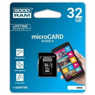 Goodram Micro Secure Digital Card, 32GB, micro SDHC,  s adaptérem