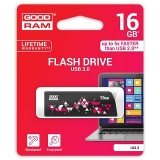 Goodram USB flash disk, 3.0, 16GB, UCL3, černý, podpora OS Win 7