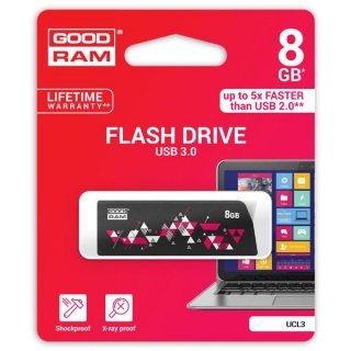 Goodram USB flash disk, 3.0, 8GB, UCL3, černý, podpora OS Win 7