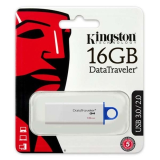 Kingston USB flash disk, 3.0, 16GB, Data Traveler DTI-G4, modrá